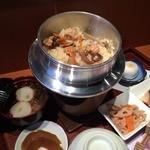 天平庵 - 若鶏釜飯