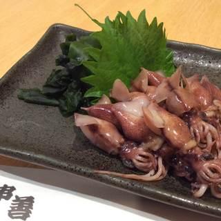 ◆今月のおすすめ料理〈ホタルイカの刺身〉