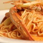 Oro Osteria - 渡蟹と島らっきょうのトマトクリームパスタ