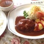 ぱんどら - オムレツハンバーグ定食