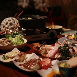 ★季節の素材にこだわった料理
