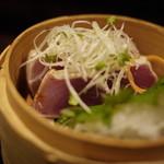 京 泰山木 - かつおのタタキ 藁燻製