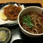 Sobadokorotogakushi - 桜海老かき揚げ+かけ蕎麦