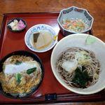 若森 - 小かつ丼と蕎麦定食