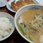 珍来 - 料理写真:みそスペシャル(ギョウザもみそラーの麺も美味しい)