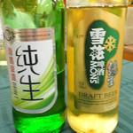 大清花餃子 - ビール