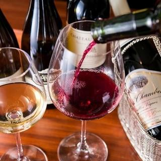 シニアソムリエ厳選ワインの数々・・