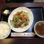 千葉屋 - レバにら炒め定食