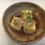 すし広 - 揚げ出し豆腐 600円 あの宇宙一美味しい千早の豆腐を使用