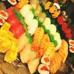 味処 たけ正 - 握り寿司盛り合わせ。(3人前)