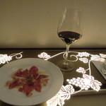 35530794 - 生ハムとグラスワイン