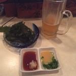 うちなーたいむ - 生ビールと海ぶどう