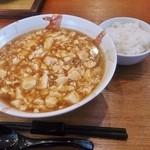 中国めしや 竹竹 - マーボー麺 730円+半ライス 100円