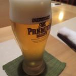 35533647 - 自分はグラスビールから。
