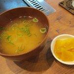 ヤコカ - Aセットのお味噌汁とお漬物