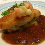 モナリザ - 2015年2月 ユリ根のムースをまとった的鯛 海老風味の赤ワインソース