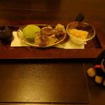 35542935 - 胡桃ゆべしと抹茶アイス
