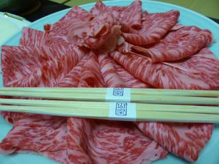 那須温泉 山楽 - 2015年2月 栃木の高級和牛でしゃぶしゃぶ