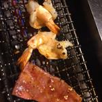 叙々苑 - ランチのお肉と海老