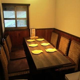 【7名様以上で完全個室】木目調の落ち着き個室席
