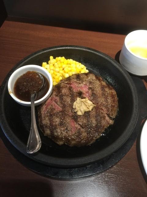 いきなり!ステーキ 虎ノ門店 - ワイルドハンバーグ(ランチ1000円)