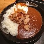 旬鮮酒場天狗 - 豚の生姜焼きカレーライス(大盛り)