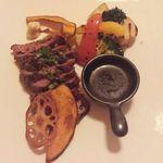 ビストロ ナチュレ - 牛肉のバベットステーキ(ガーリックしょう油)1,380円 2015/02