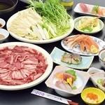 割烹 一の矢 - 【歓送迎会・期間限定】5,000円コース(税別)  すき焼き、しゃぶしゃぶから選べます