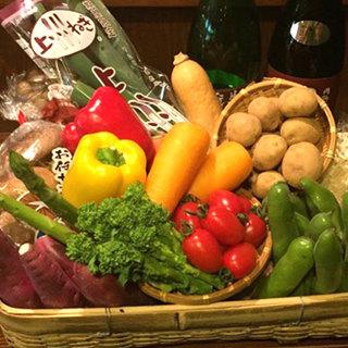 ◎季節の旬な新鮮お野菜◎健康系ヘルシー料理をお楽しみ下さい。