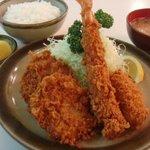 とんかつ 末吉 - お好み定食1,300円(ランチタイム1,200円)