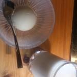 35559896 - 黒糖アイスと自家製飲むヨーグルト