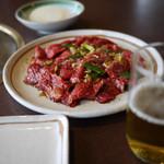 炭火焼肉 ゑんや - 料理写真:特盛カルビ&ビール~☆