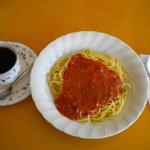 日野オートプラザ2階喫茶室 - 料理写真:ミートスパゲティセット 600円