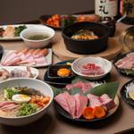 亀山社中 - お肉とサイドメニューが揃えばこんな感じ♪