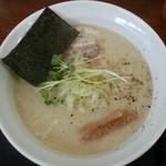 鳥見本 - 「特濃ラーメン塩(大盛)」800円税込