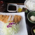 とんかつ和ちゃん - とんかつ定食全景2015/2