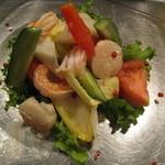 貝柱とエビのサラダ