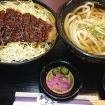35592419 - 味噌カツ丼うどんのセット(税別900円)