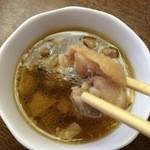清吉そばや - 肉鉢 肉アップ