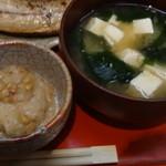 嘉門 - 納豆と味噌汁