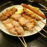 やきとり將きち - 料理写真:お任せの焼き鳥セット