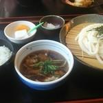 輝良里 - 肉汁つけ麺のセット