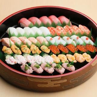 『海幸の宴』のお寿司をご自宅で♪一人前よりご予約承ります。