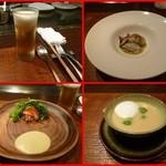 朱藏 - 料理:・ずわい蟹とアボガドのサラダ       ・日替わりのオードブル       ・本日のスープ