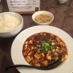 同源 - 麻婆豆腐、ご飯、スープ(950円)