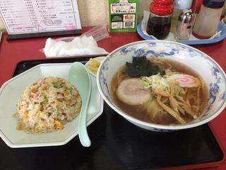 中華料理 海道 - ラーメン+半チャーハンセット(Aランチ下 680円)