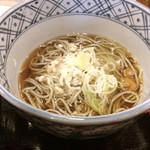 35620834 - タレカツ丼定食のミニへぎ蕎麦