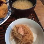 多気 - ランチの小鉢と味噌汁