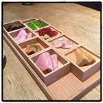 HIGASHI-YAMA Tokyo - 前菜盛り合わせ。 八雲茶寮の系列店。 優雅なランチ。