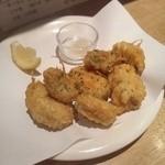 柿の種 - ムール貝天ぷら